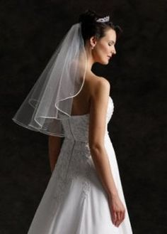 I don't know if I would want a veil, but if I did end up getting one, I would want it at this place in my hair and this length
