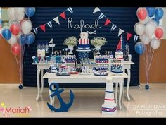 Open this one up I really like this stuff. Except for the fondant Sailor Baby Showers, Anchor Baby Showers, Baby Shower Themes, Baby Boy Shower, Baby Showers Marinero, Boy Christening, Nautical Party, Festa Party, Boy First Birthday