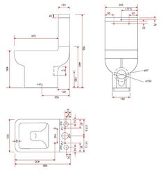 Modern Short Projection Toilet With Soft Close Seat