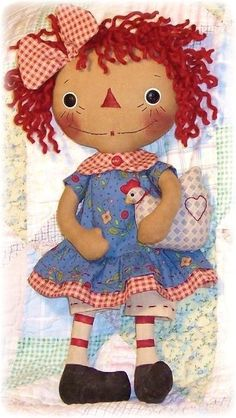 *RAGGEDY ANN ~ Rag Doll Pattern PDF Rag Doll Sewing Pattern by OhSewDollin