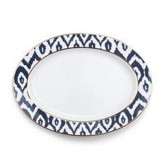 Ikat Oval Serving Platter