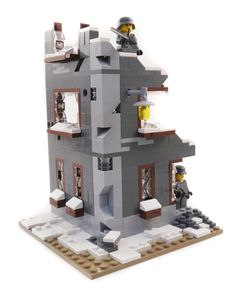 Custom Lego WWII Ruined Factory | eBay --- I'm selling a complete custom kit based on the instructions made by brickcitydepot. I will send all the necessary pieces to build it and a pdf with the instructions, The price of the instructions it's included in the auction, because they deserve the credit for the very good work.