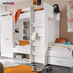 Bring your children's bedroom to life with our range of Bedroom Furniture. Shop bunk beds, children's beds, cabin beds & novelty beds for kids. Enjoy FREE and fast delivery. Bunk Beds With Drawers, Wooden Bunk Beds, Bunk Beds With Storage, Bed Storage, Loft Bed Desk, Futon Bunk Bed, Loft Beds, Play Beds, Kid Beds