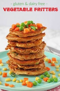 Delicious gluten and dairy free fritters packed with vegetables. Perfect for dinner at home or to add to lunch boxes too!