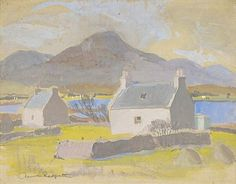 """Broadford, Skye"" by Anne Redpath, 1942 (gouache and pencil on paper)"
