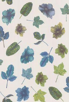 Osborne & Little Woodland Blue / Teal / Apple / Stone Wallpaper main image