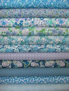 Liberty Lifestyle Fabrics, Pale Blue in FAT QUARTERS 11 Total  Me = SHUT THE FRONT DOOR!!! I can get a bundle of Liberty of London fat quarters?!?? Sign me UP!!!!!