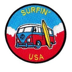 Vintage 60/'s 70/'s 80/'s Style Venice Beach Surf Surfer Surfing Shirt Patch Badge for Cap Hat Beach 9cm  3.5 inches Applique