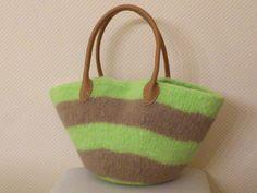 Handtasche  grün,camel   von Tassen - en - meer   auf DaWanda.com