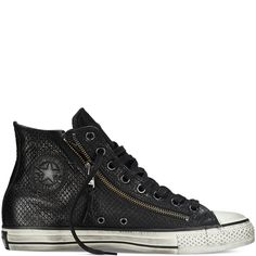 d5626f217117a8 Converse By John Varvatos Leather Double Zip black Chuck Ii