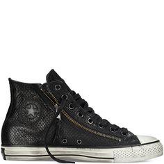 f60f2428bc5b Converse By John Varvatos Leather Double Zip black Chuck Ii