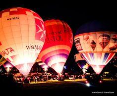 Bristol International Balloon Fiesta - night glow || Read my blogpost here: http://www.blocal-travel.com/world/uk/bristol/bristol-balloon-fiesta/