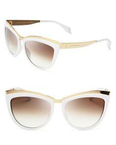 Alexander McQueen Cat Eye Sunglasses  Bloomingdale's