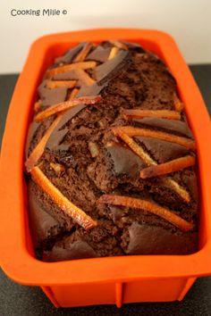 Cake au chocolat et aux écorces d'oranges confites