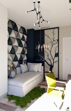 Wall Panels & Home Decor Bed Headboard Design, Room Design Bedroom, Bedroom Furniture Design, Home Decor Furniture, Home Decor Bedroom, Classy Living Room, Home Design Living Room, Room Interior, Home Interior Design