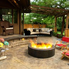 Stamp Concrete Patio Design Ideas, Pictures, Remodel, and Decor - #PinMyDreamBackyard