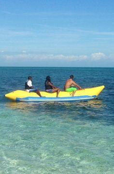 Banana Boat Rides in West End! (Grand Bahama Island)