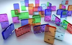 Glass Dominoes ~ ♥ #glass #antiques