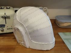 This helmet I had to try get done in a lot shorter time frame than the Thomas Helm, however I had a much more accurate Pepakura file for thi.