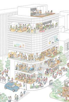 Chair na design / Noguchi Risako + Ichinose Kento Landscape Architecture Model, Architecture Portfolio Layout, Architecture Drawing Plan, Architecture Drawing Sketchbooks, Conceptual Architecture, Architecture Presentation Board, Architecture Wallpaper, Architecture Graphics, Architecture Diagrams