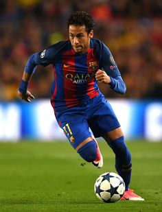 Neymar of Barcelona in action during the UEFA Champions League Quarter Final second leg match between FC Barcelona and Juventus at Camp Nou on April 19, 2017 in Barcelona, Catalonia.