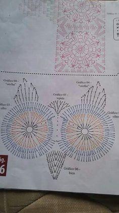 Lace Owl pattern by Marina Kiselyova Owl Crochet Patterns, Crochet Owls, Owl Patterns, Crochet Chart, Crochet Home, Thread Crochet, Cute Crochet, Crochet Motif, Beautiful Crochet
