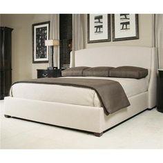 Cooper King Platform Wing Bed in Bisque | Nebraska Furniture Mart