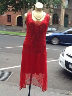 Hey, I found this really awesome Etsy listing at https://www.etsy.com/listing/127761436/1920s-red-vintage-flapper-dress-hand