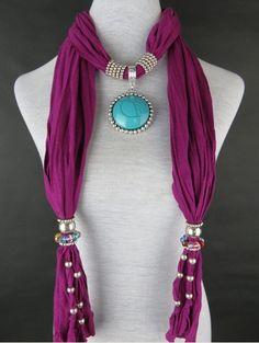 Royal Blue Rhinestone Pend Jewelry Scarf Wholesale Pendant scarves Cheap wholesale on www.jewelryscarfcanada.com