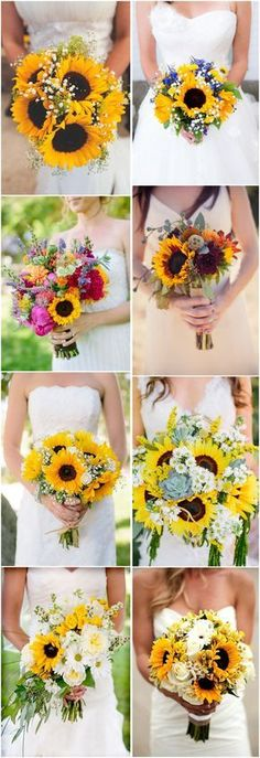 Rustic Wedding Ideas » 21 Perfect Sunflower Wedding Bouquet Ideas to Love » ❤️ See more: http://www.weddinginclude.com/2017/05/perfect-sunflower-wedding-bouquet-ideas-to-love/ #weddingbouquets