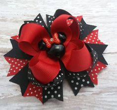 Hey, I found this really awesome Etsy listing at https://www.etsy.com/listing/227740856/red-and-black-mouse-hair-bow-mouse-hair