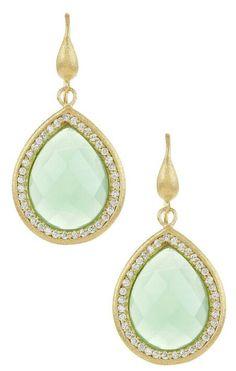 Mint Green Diamond Earrings
