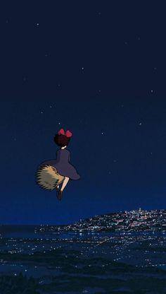 Studio Ghibli's Kiki's Delivery Service wallpaper Wallpaper Animes, Kawaii Wallpaper, Animes Wallpapers, Art Studio Ghibli, Studio Ghibli Movies, Reborn Anime, Studio Ghibli Background, Kiki Delivery, Kiki's Delivery Service