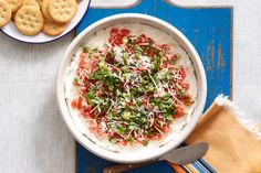 Ingenious. This super-easy dip featuring tomatoes, cream cheese and basil is full of fresh garden flavors.
