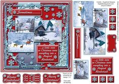 Sometimes.....Snow by Janyce Cotterill Sometimes..........a little snow at Christmas turns everything into a Magical WonderlandHere are another four of my Sometimes.....range of designs - these are all on the theme of Christmas.Snow - especially at Christmas turns a landscape into a magical scene. The pictures in this sheet shows Frosty the snowman in the garden deer deep in the winter forest and
