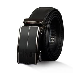 Stylish Mens Alloy Buckle Belt - A quality belt made from Genuine leather. This Belt is Fitted with a durable high-grade alloy automatic buckle. Real Leather Belt, Brown Leather Belt, Brown Belt, Leather Buckle, Leather Belts, Cowhide Leather, Leather Men, Classic Leather, Belt Buckles