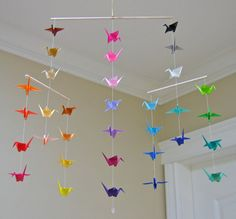 Origami Crane Mobile - Colour Wheel