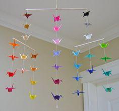 Origami grue Mobile - Oswald - contemporain Mobile