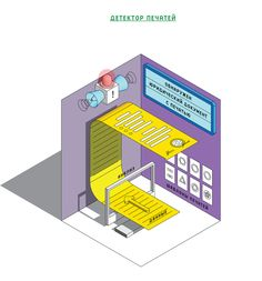 Illustration for InfoWatch by Maximus Chatsky, via Behance