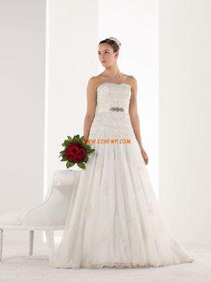 Áčkový střih Bez rukávů S hlubokým výstřihem na zádech Svatební šaty 2013