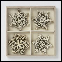 Wooden Snowflake Ornaments