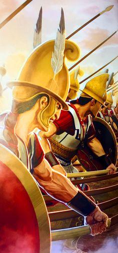 Macedonian hoplites in phalanx formation