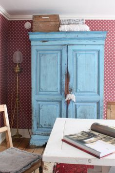 Painted and distressed cabinet