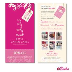 Flyer Design & Print - Love Candy Cakes Cupcakes Chesterfield Derbyshire Bimbo Design – Graphic Designers Website Printing Printers Marketing Chesterfield Derbyshire