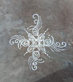 Nisha's kolam Free Hand Rangoli Design, Rangoli Designs Diwali, Rangoli Designs With Dots, Diwali Rangoli, Beautiful Rangoli Designs, Kolam Designs, Simple Rangoli, Tulasi Plant, Bohemian Drawing