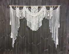 Etsy :: Your place to buy and sell all things handmade Wedding Arch Rustic, Bohemian Wedding Decorations, Boho Wedding, Wedding Aisles, Wedding Ceremonies, Ceremony Decorations, Wedding Reception, Bohemian Curtains, Macrame Curtain