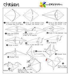 Animals Origami: Chicken