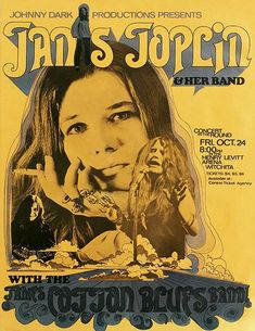 Janis Joplin - James Cotton - 1969 - Witchita - Co Janis Joplin, Tour Posters, Band Posters, Vintage Concert Posters, Vintage Posters, Johnny Dark, James Cotton, Round Robin, Kunst Poster