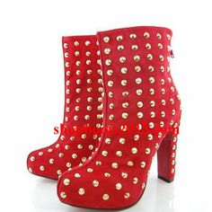 black spiked red bottom heels - Christian Louboutin Booties no Pinterest | Christian Louboutin ...