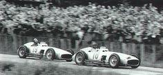 #18 Juan Manuel Fangio (RA) - Mercedes-Benz W196 (Mercedes-Benz 8) 1 (1) Daimler Benz AG #19 Karl Kling (D) - Mercedes-Benz W196 (Mercedes-Benz 8) 4 (23) Daimler Benz AG